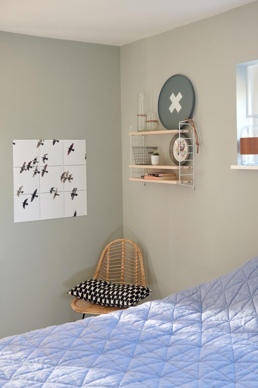Een stuk van de slaapkamer van de woning van Somi en Hiddo in Wagenborg