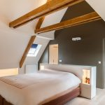 Slaapkamer met aangrenzend badkamer