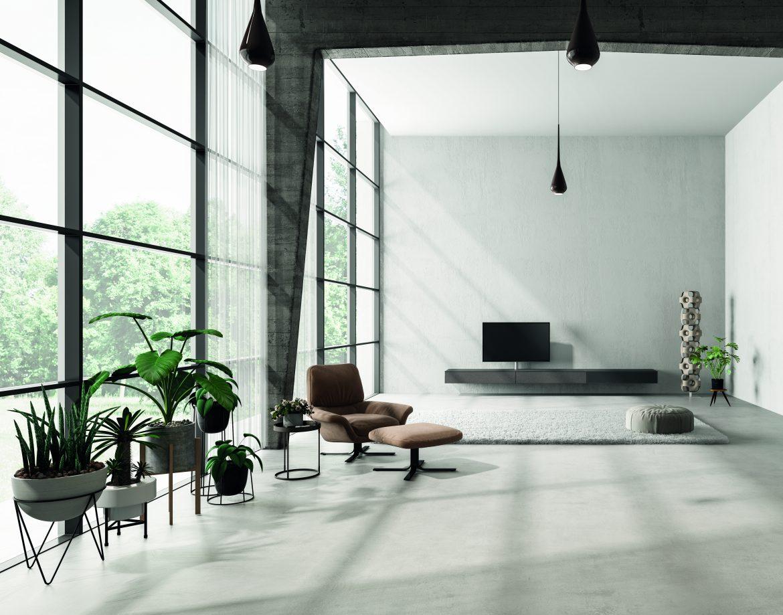 Interieur in de woonstijl minimalistisch.