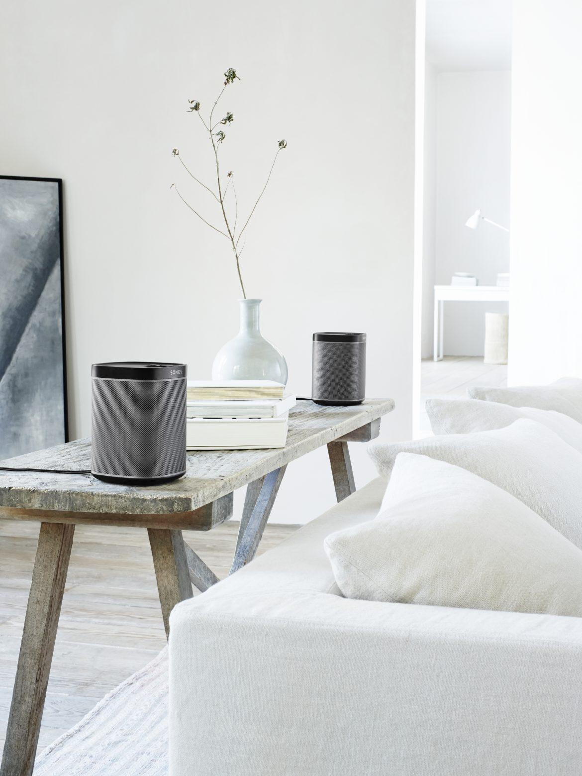 Overal muziek in huis? Kies de ideale opstelling met de draadloze luidsprekers van Sonos Play.